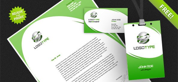 corporate identity psd pack 4, vector - 365psd, Powerpoint templates