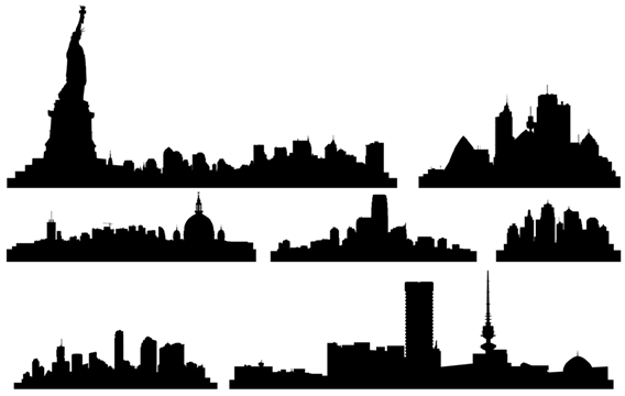 free free vector city skylines psd files vectors graphics rh 365psd com new york skyline silhouette vector new york skyline outline vector