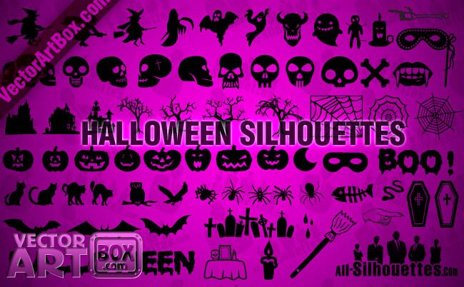 75 Halloween Silhouettes