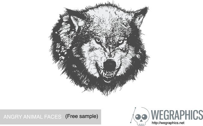 Angry Animal Face