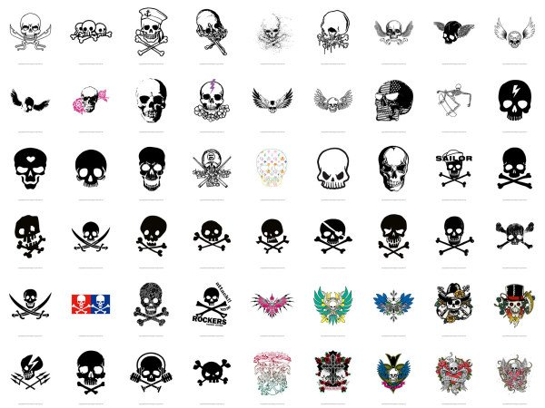 The trend of skull series vector material -2 (54)
