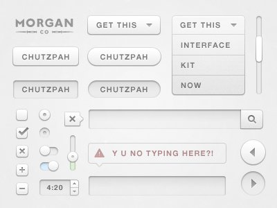 Chutzpah User Interface Kit