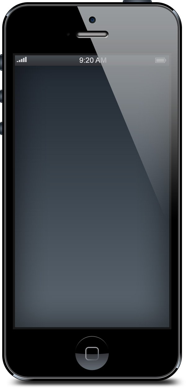 Iphone 5 Black And White Blank Templates Psd Free