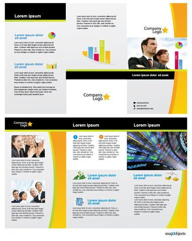 Free Business Vector Brochure Template In Illustrator Vector File - Illustrator brochure template