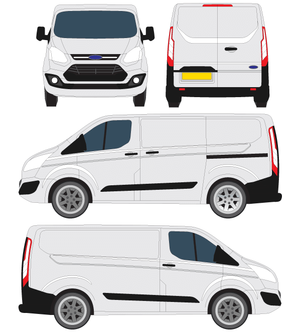ford transit courier vector outline free vector. Black Bedroom Furniture Sets. Home Design Ideas