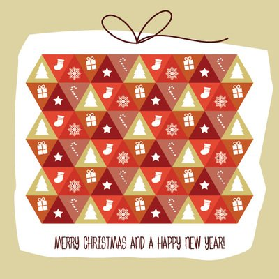 Pattern with Christmas Elements