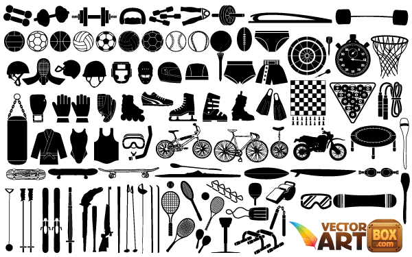 free clipart of sports equipment - photo #40