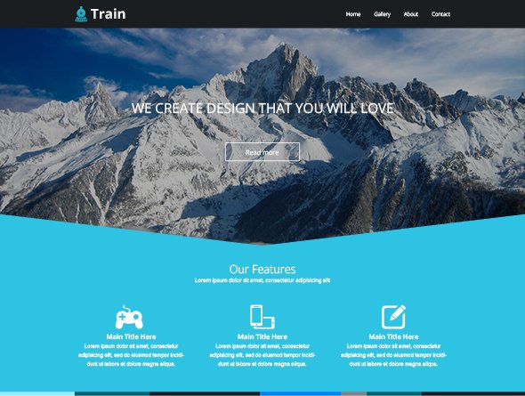 Train free landing page template, free vectors - 365PSD.com