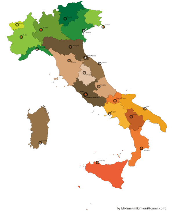 Free italy map free psd files vectors graphics 365psd gumiabroncs Choice Image