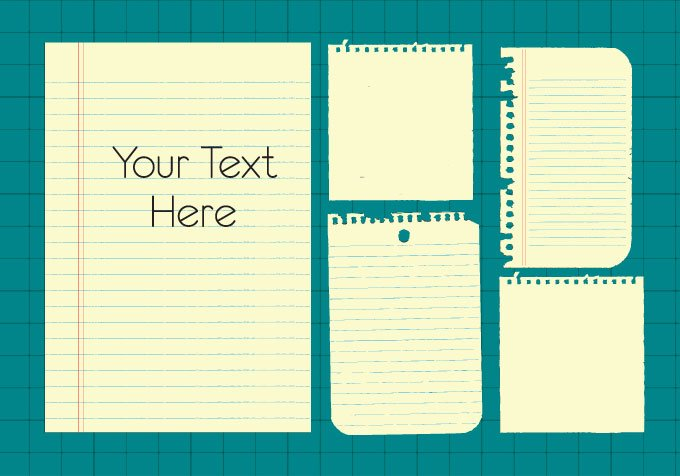 Note Paper Vector Clip Art (Free)