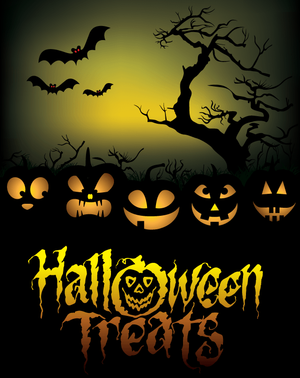 free free halloween treats poster psd files  vectors free halloween vector patterns free halloween vector images