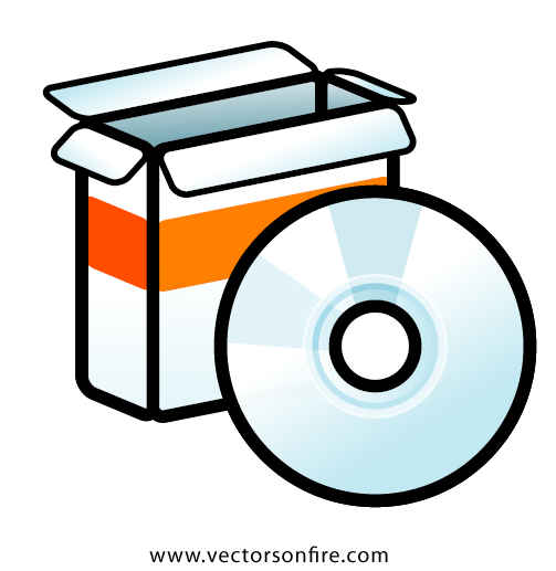 Software Packaging Icon Free Vector
