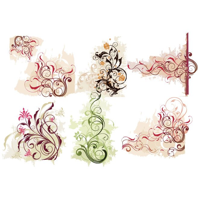 VECTOR FLORAL DECORATIONS.eps