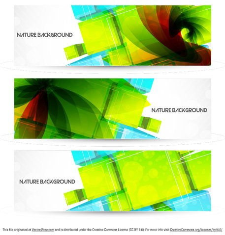 Abstract Nature Background Banner Vector Pack