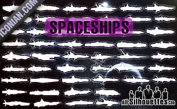50 Free Vector Spaceships