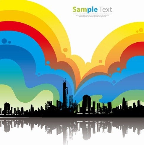 Colorful City Background