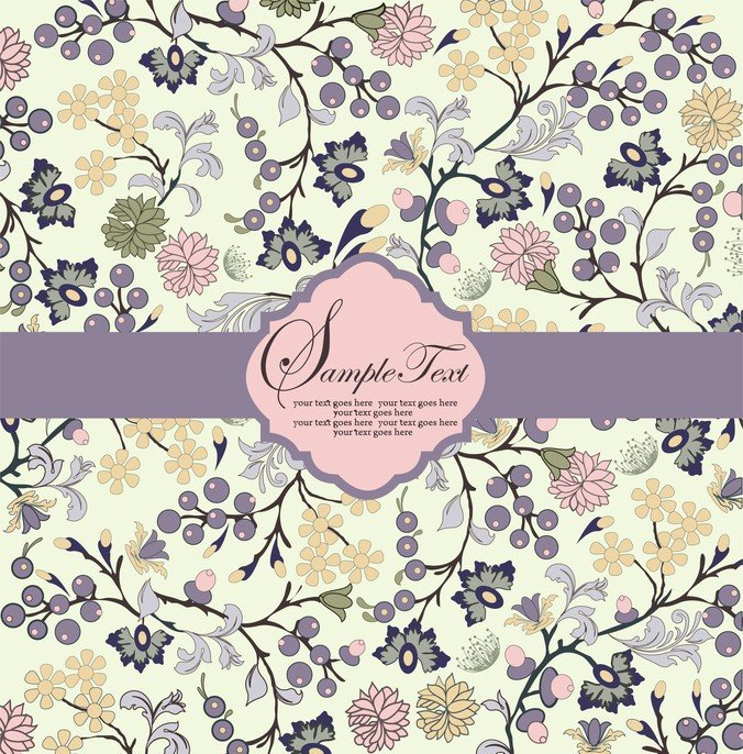Pattern Background Card