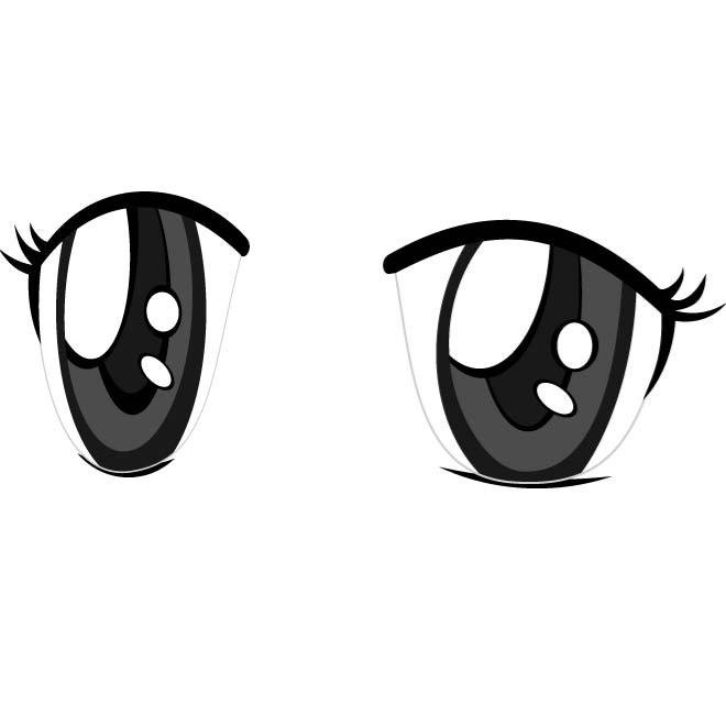 anime eyes vector image.eps, vector graphic - 365psd