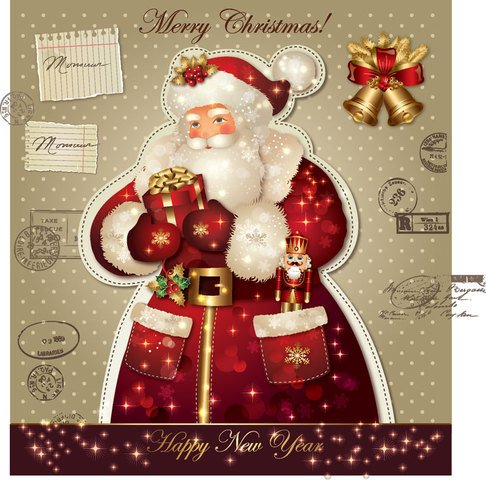 Xmas greeting card 2013 vector-1