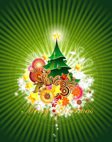 Christmas Card Green Backgrounds