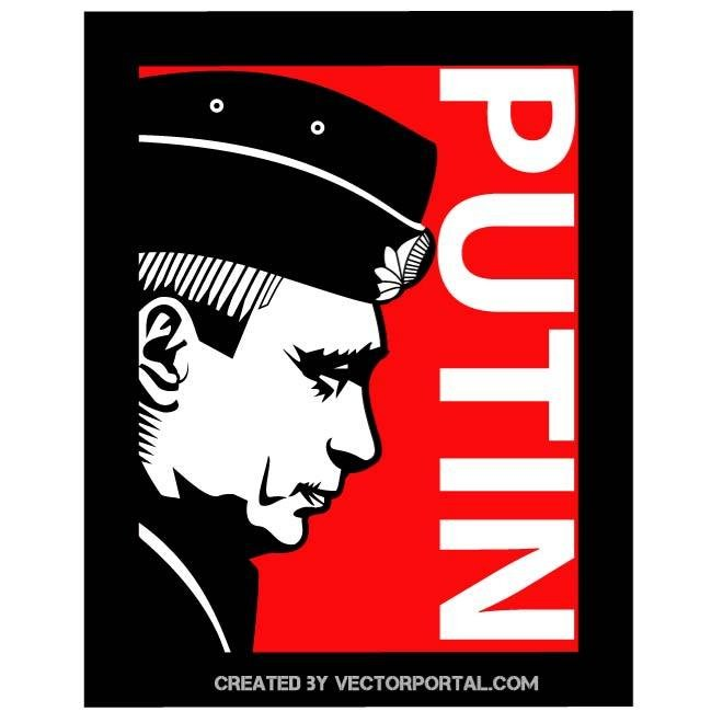 RUSSIAN PRESIDENT PUTIN VECTOR IMAGE.eps