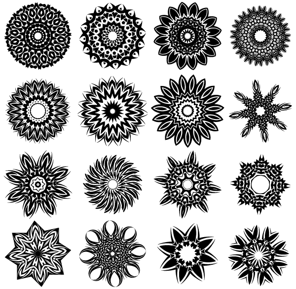 Free Tribal Flower Tattoo Designs PSD Files Vectors Graphics