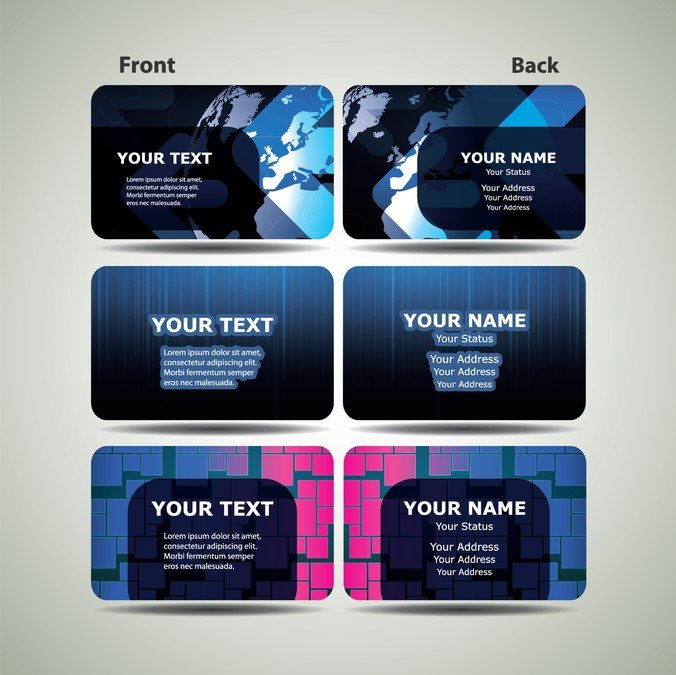 Blue technology business card template 03 vector files 365psd accmission Images