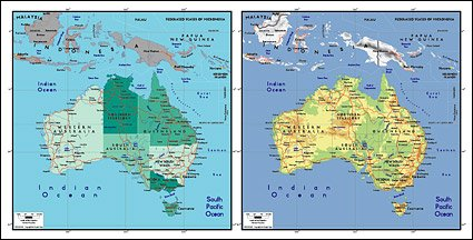 Vector map of the world exquisite material - Australia Maps