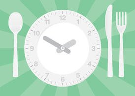 Clock Vector Dinner Table Setting