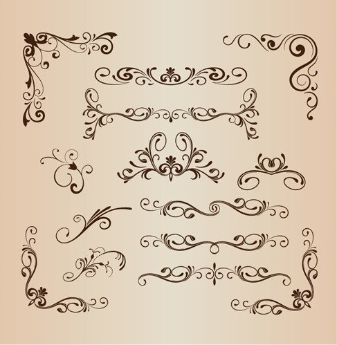 Set of Vector Vintage Design Elements