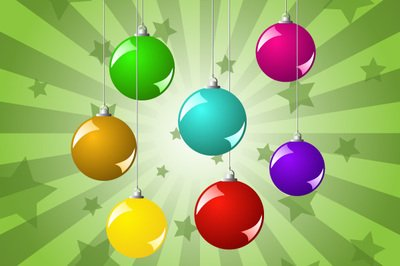 Glossy Colorful Christmas Ball Pack