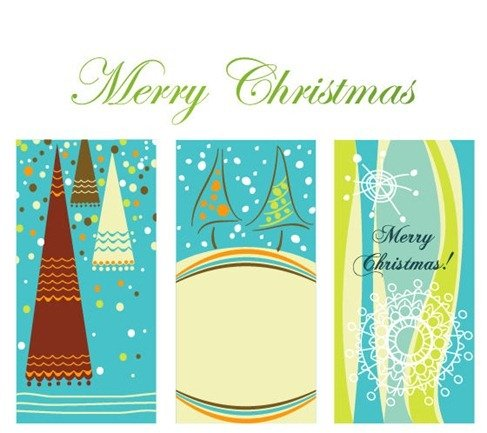 Winter Christmas Vertical Background