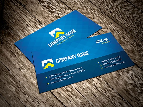 Free free blue business card template psd files vectors graphics free free blue business card template psd files vectors graphics 365psd reheart Image collections