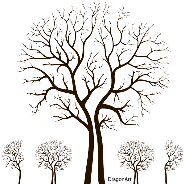 free leafless autumn tree design psd files vectors graphics 365psdcom