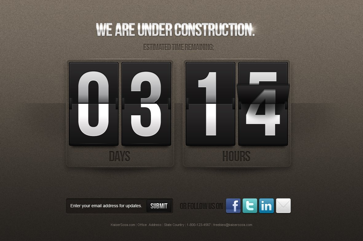 free under construction counter free psd template psd files vectors