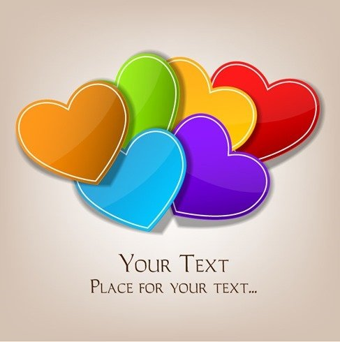 Valentines Day Colorful Hearts Background