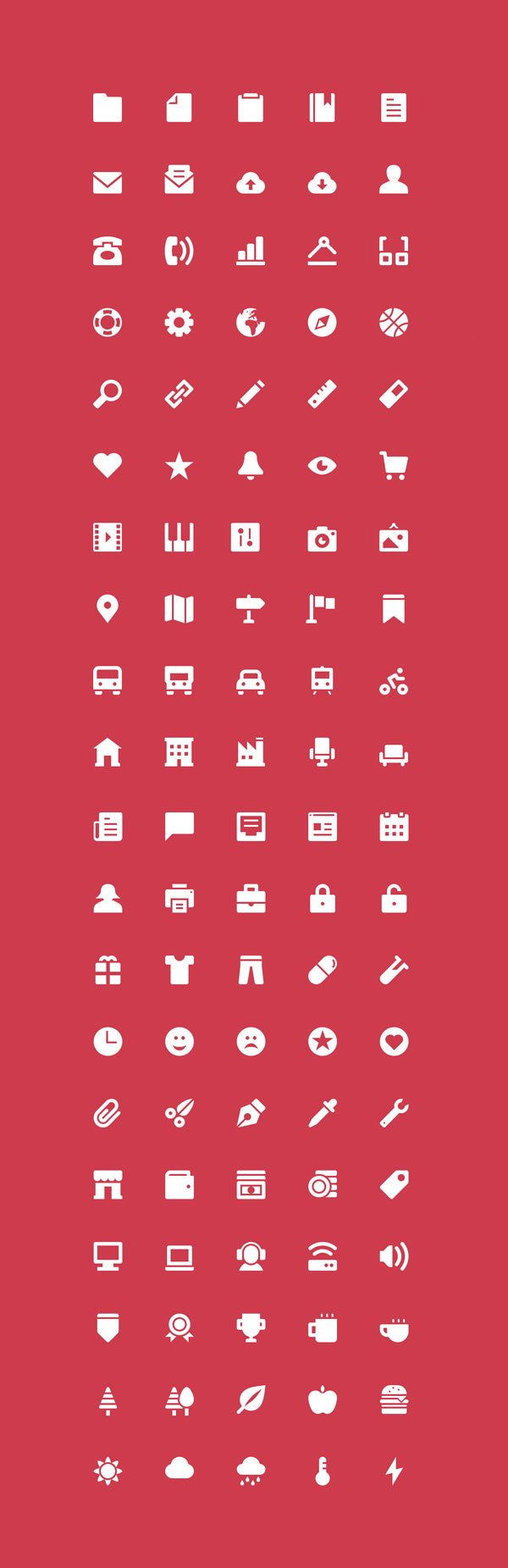 The Icons: 100 Free Icons