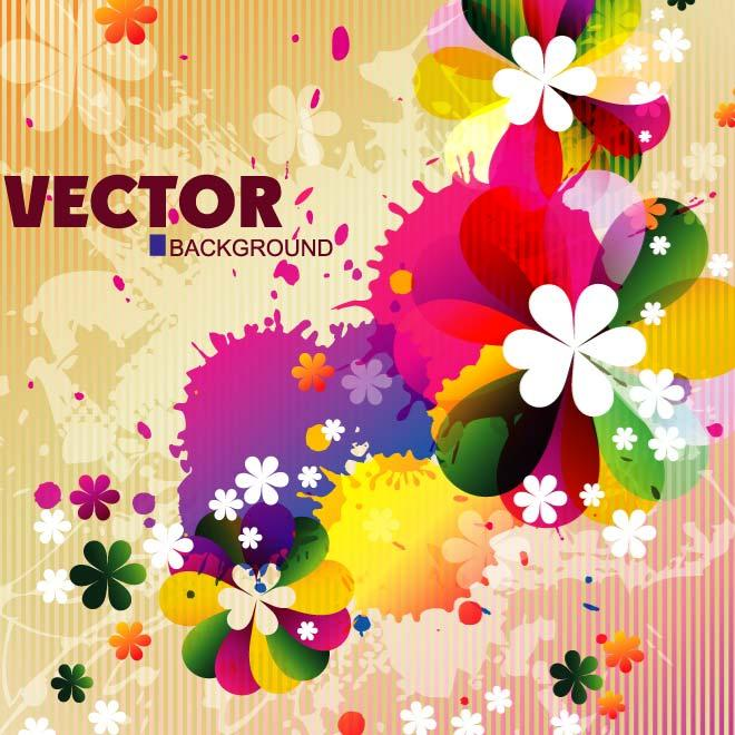 SPRING FLOWERS BACKGROUND VECTOR.eps