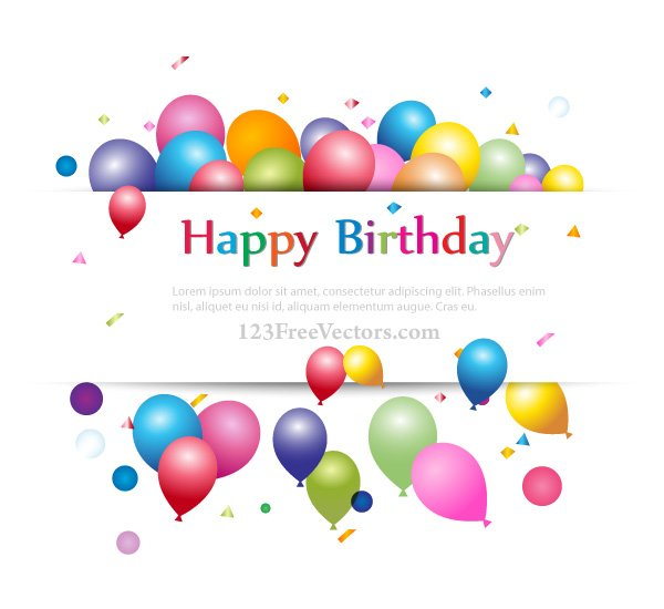 Free Happy Birthday Background Banner Design For Your Text
