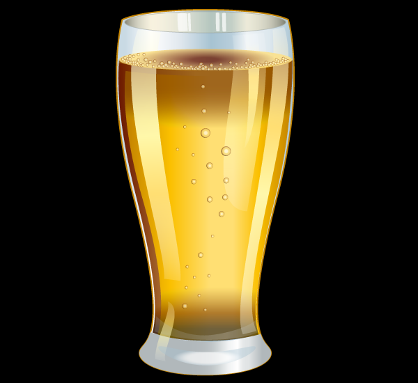 Cold Pint Glass Psd