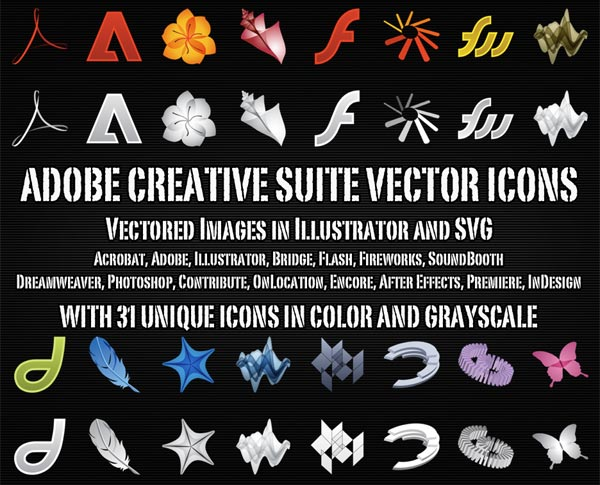 free adobe creative suite icons vector free psd files vectors