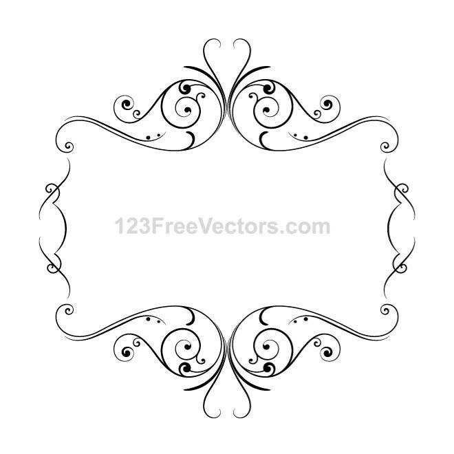 FRAME WITH ORNAMENTS VECTOR.eps