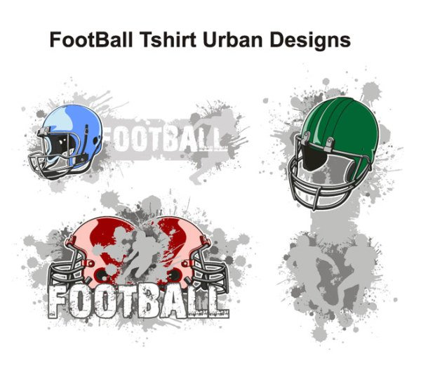 The trend of American football theme T-shirt design Vector m