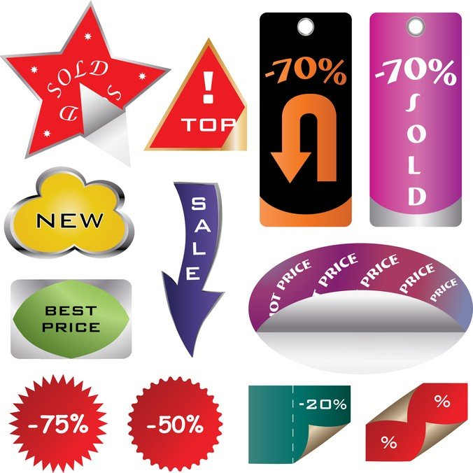 A Variety Of Shopping Sites Decorative Graphics
