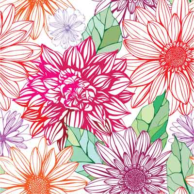 Floral seamless pattern Vector Flowers