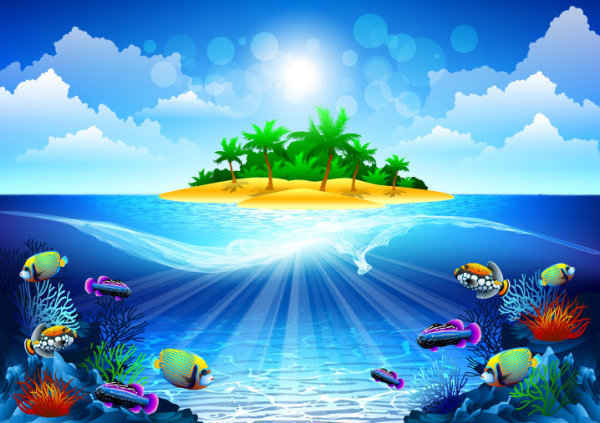 Dream sea background