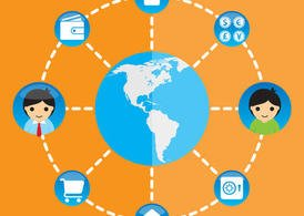 Global Network Vector Infographic