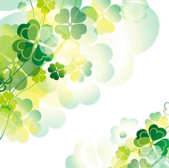 Abstract Green Floral Design