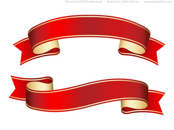 free curled red ribbon banner psd template psd files vectors rh 365psd com ribbon banner vector psd ribbon banner vector black and white