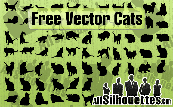 67 Free Vector Cats